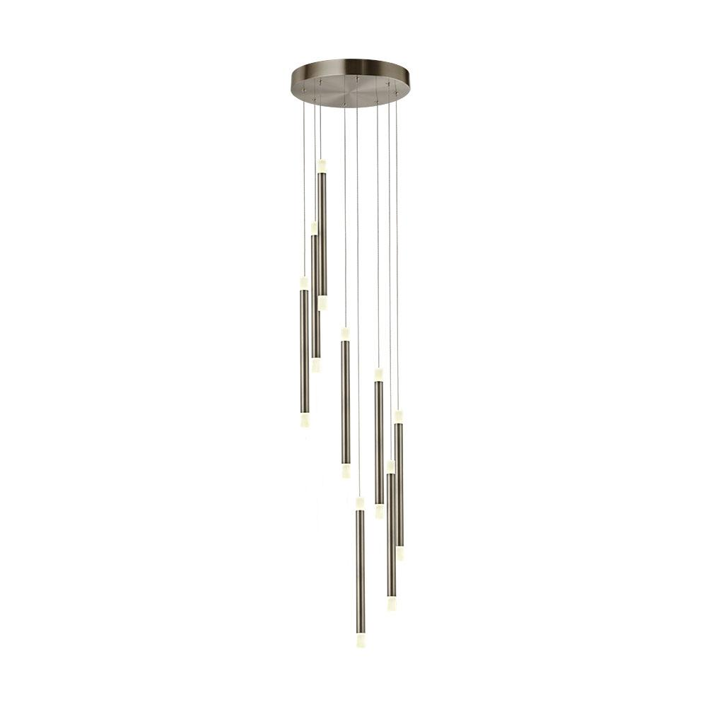 Cabo twisted ceiling light satin nickel