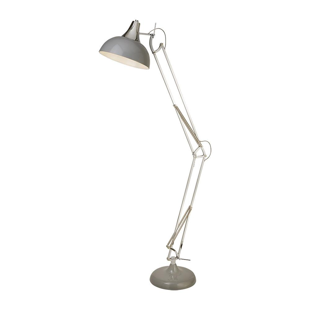 Ufficio floor lamp grey and chrome