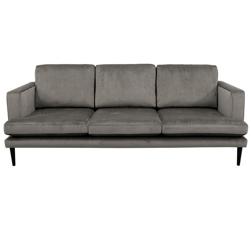 Molise three seater sofa alba velvet grey