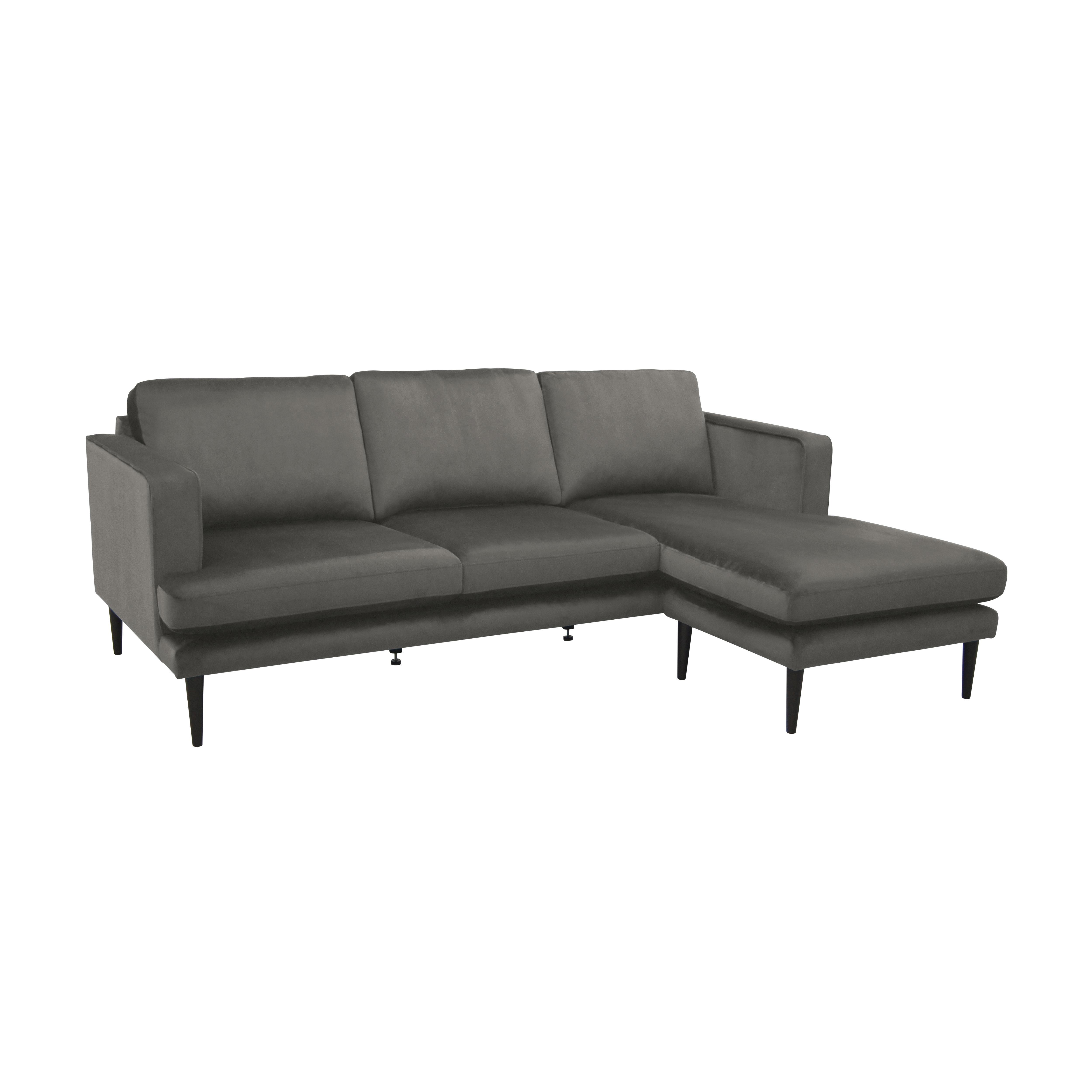 Molise four seater lounger sofa alba velvet grey