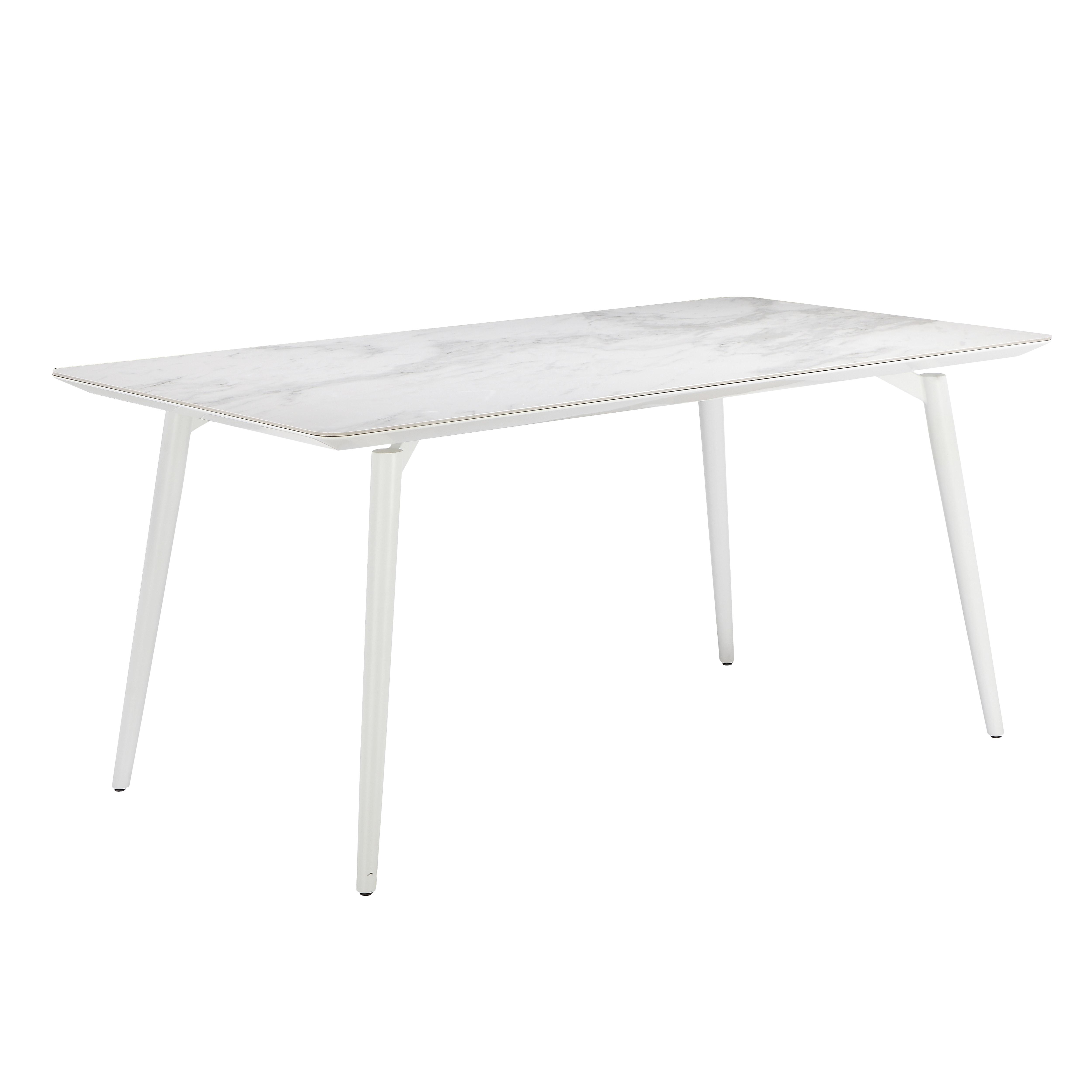 Buco marble ceramic 4 seater dining table white