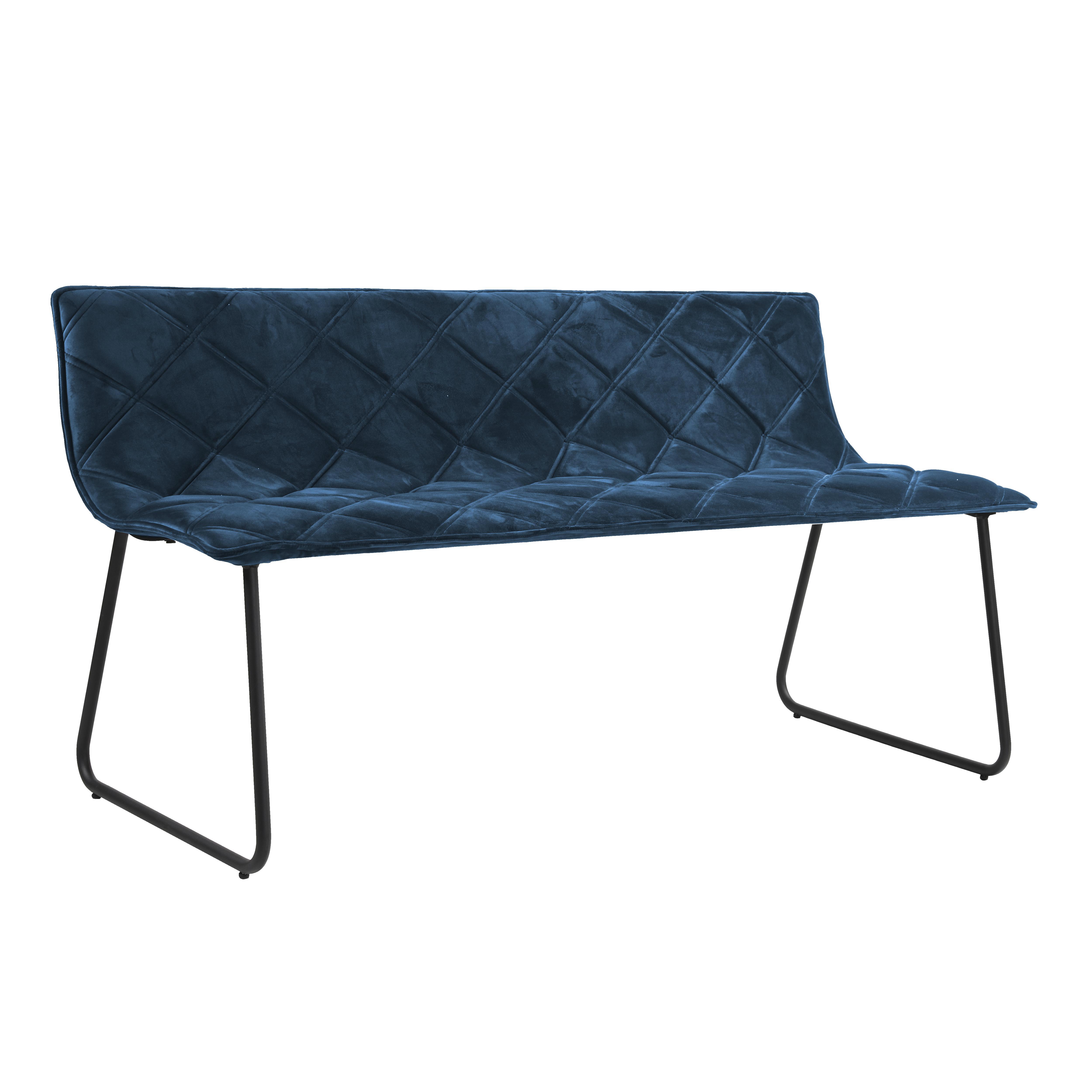 Portela velvet bench blue