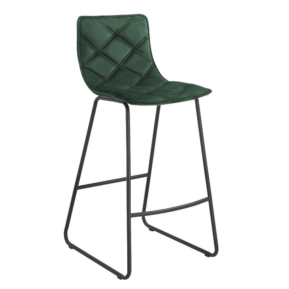 Portela velvet counter bar stool green