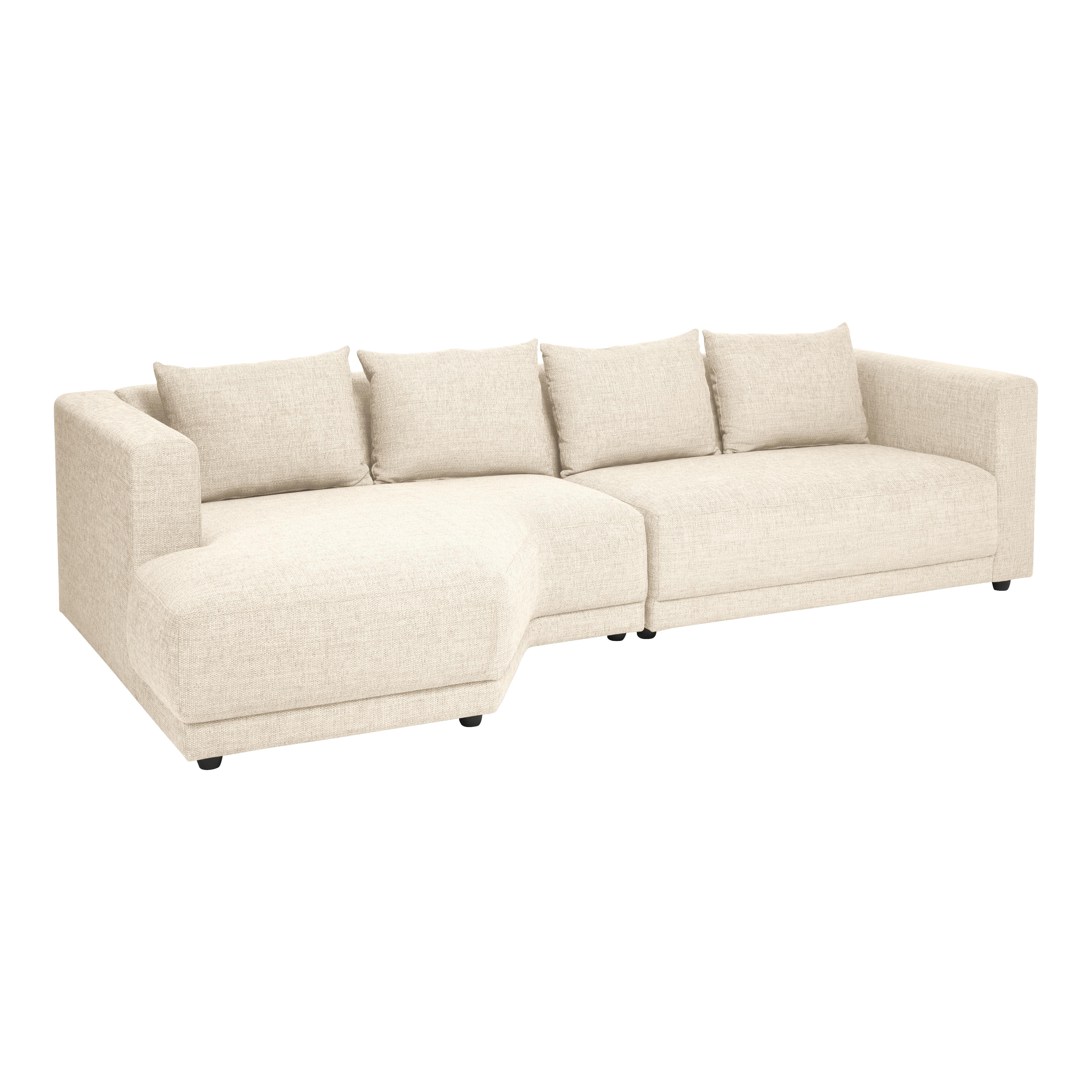 Trevi left corner chaise callida fabric ivory