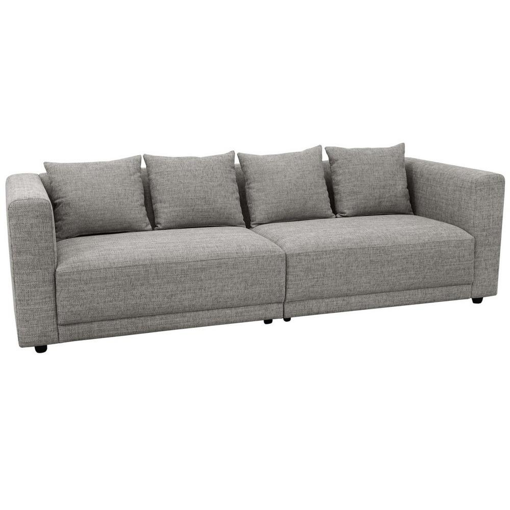 Trevi four seater sofa callida fabric grey