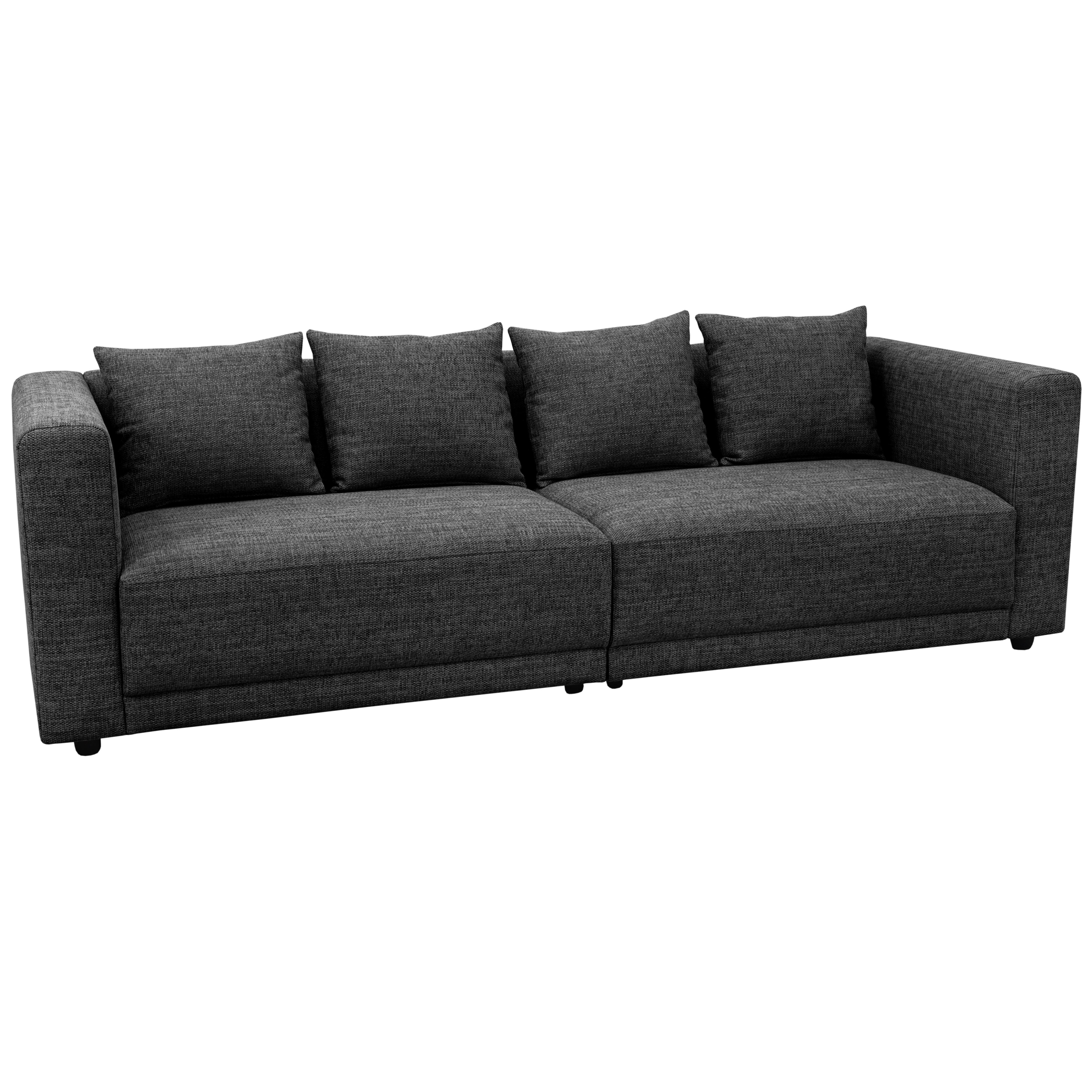 Trevi four seater sofa callida fabric charcoal