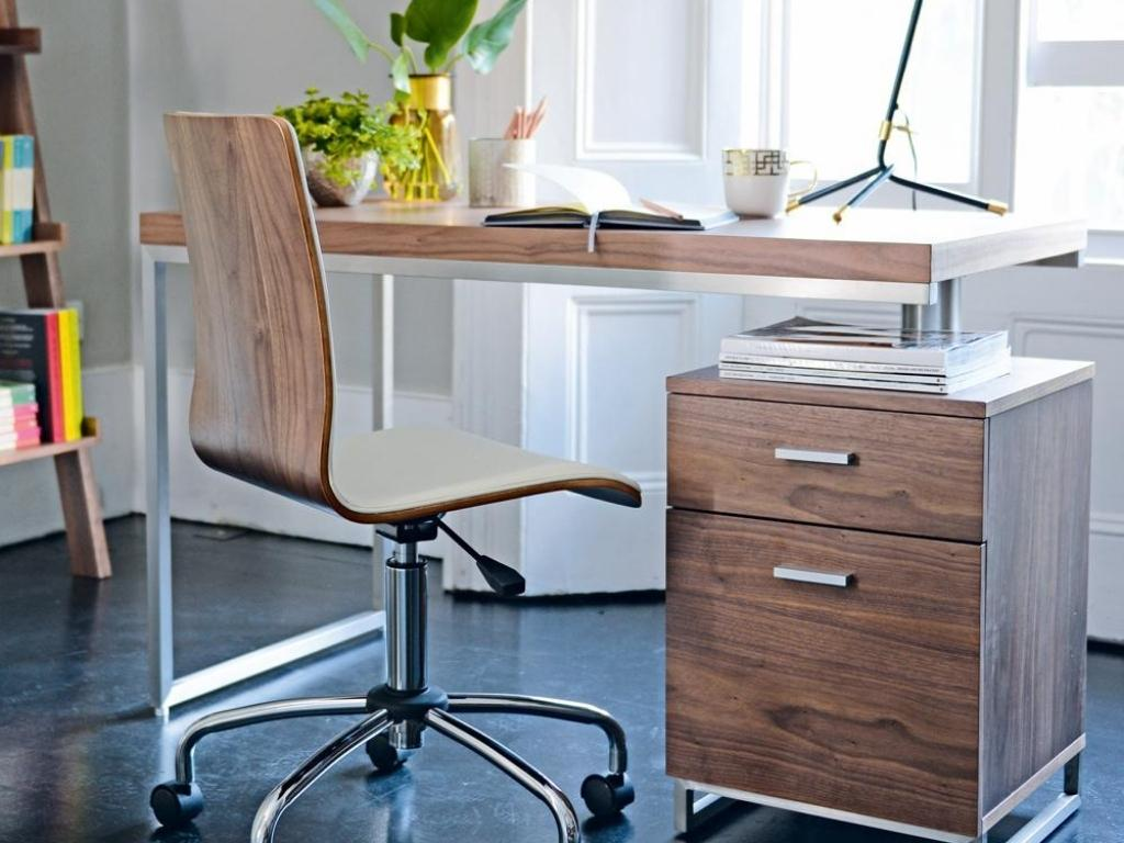 Justar Reversible Desk and Drawers Walnut